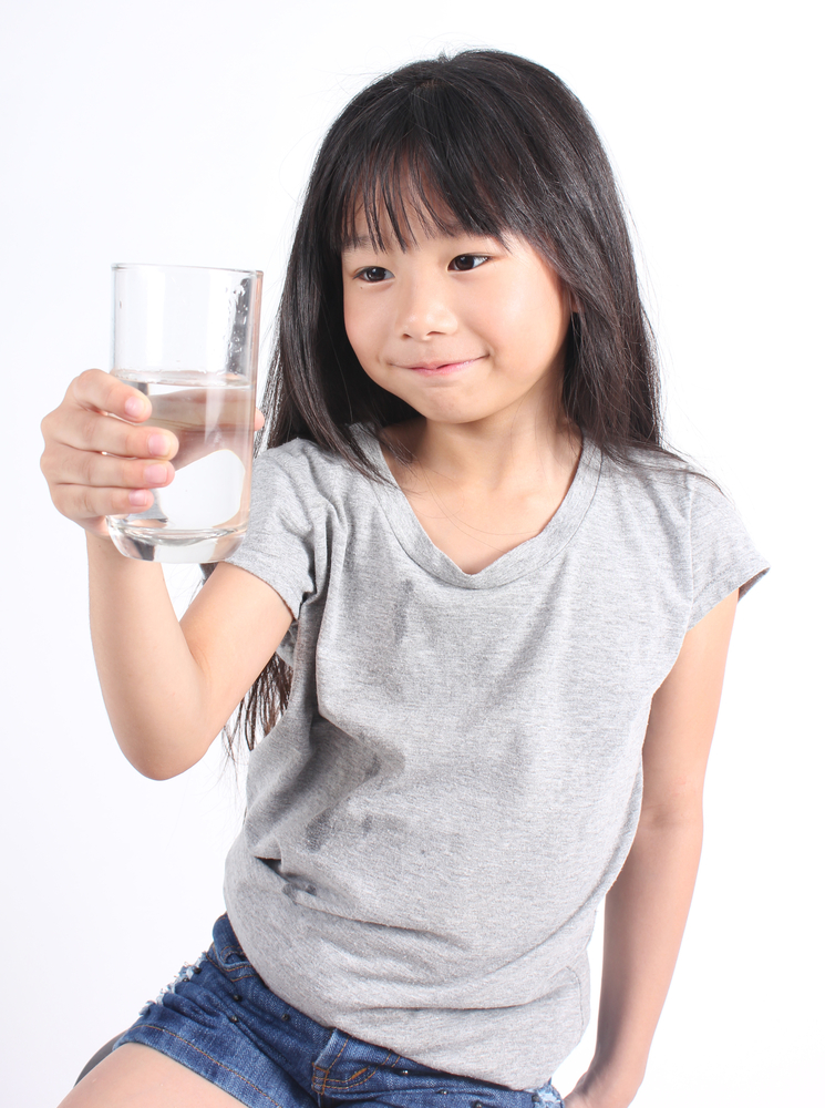 Girl with clean water